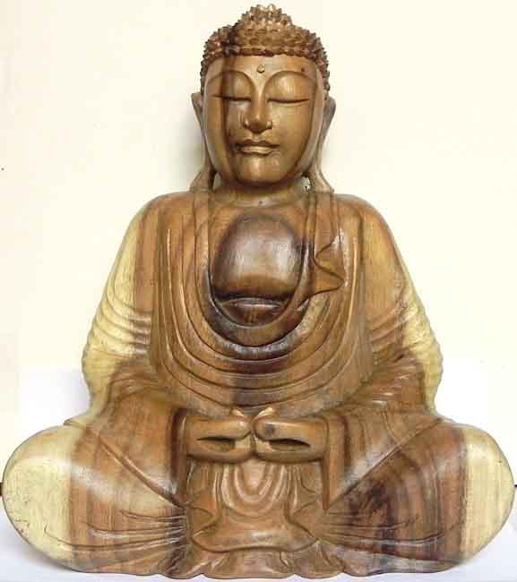 buddha statue holz