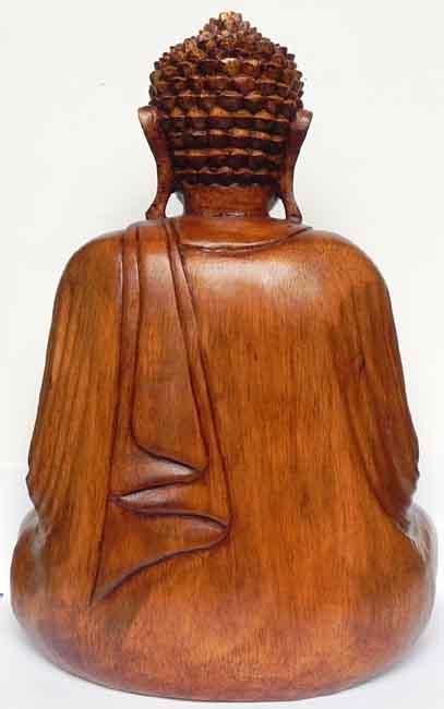 buddha statue holz ca 33 x 25 x 14 cm h x b x t gewicht 2 2 kg